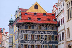 House 'At the Minute' in Prague, Czech Republic Royalty Free Stock Images