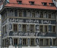 The House at the Minute. In Prague Stock Images