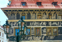 """The House """"At the minute""""(Prague, Czech) Royalty Free Stock Photo"""