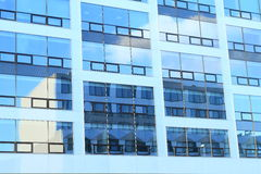 House mirroring on modern office building Royalty Free Stock Image
