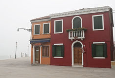 House in mist. House in mist on the island of Burano, Italy royalty free stock photography