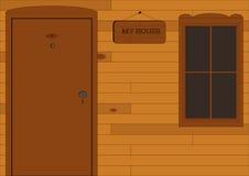 house mitt Arkivfoto