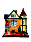 House model. The house model Isolate with a clock Stock Image