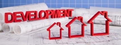 House model, architecture blueprints concept Stock Images