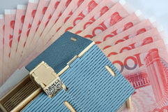House model and banknote Stock Photo