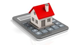 House model on a calculator Royalty Free Stock Image