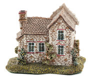 House. Model charming country house from ceramics Royalty Free Stock Images