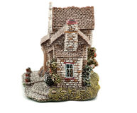 House. Model charming country house from ceramics Royalty Free Stock Photo