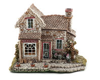 House. Model charming country house from ceramics Royalty Free Stock Image