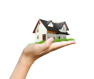 House model  concept in hand Stock Photo
