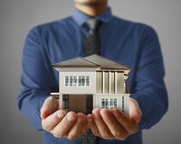 House model concept in  hand Royalty Free Stock Photography