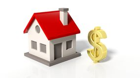 House model with golden dollar sign Royalty Free Stock Photo