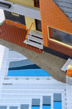 House model and graph Royalty Free Stock Image