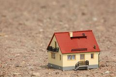 House model on ground Royalty Free Stock Image