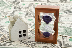 House model and hourglass Stock Photography