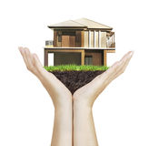 House model house concept in hand Stock Photography