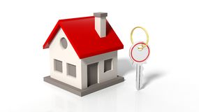 House model and a key Royalty Free Stock Image