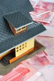 House model on money notes Royalty Free Stock Photography