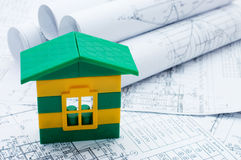 House model on the project Royalty Free Stock Photography