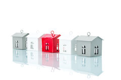 House model in a row, home choice Royalty Free Stock Photos