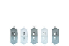 House model in a row, home choice Royalty Free Stock Images