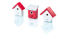 House model in a row, home choice Stock Photos