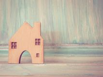 House model in saving plan for residence of people in society, p Stock Image