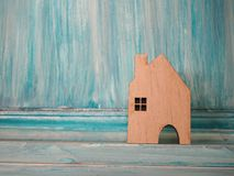 House model in saving plan for residence of people in society, p Stock Photo