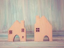 House model in saving plan for residence of people in society, p Stock Images