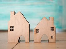 House model in saving plan for residence of people in society, p Royalty Free Stock Photography