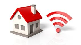 House model with wifi symbol Royalty Free Stock Photography