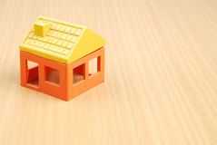 House model. On wood table Royalty Free Stock Photos