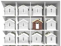 House models on the rack Royalty Free Stock Image