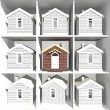 House models on the rack Royalty Free Stock Photos