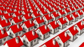 House models in rows Royalty Free Stock Images
