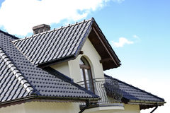 House with a Modern Roof Royalty Free Stock Images