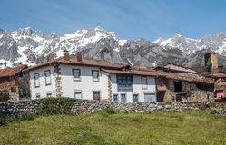 House in Mogrovejo mountains Royalty Free Stock Photo