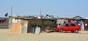 House in the Mondesa slum Stock Photos