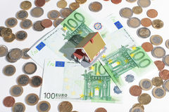 House and money Stock Photos