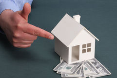 House and money Royalty Free Stock Images
