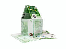 House from money. Model of a small house from money Stock Photos