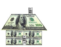 House of Money. House made of one hundred dollar bills Stock Photo