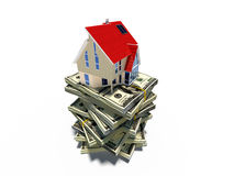 House on the money Royalty Free Stock Photo
