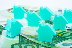 House on money background Royalty Free Stock Photography
