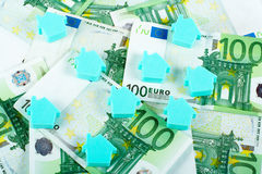 House on money background Stock Photography