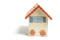 House Money Box. On White Background Stock Photos
