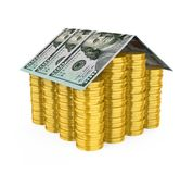 House Money Concept Isolated. On white background. 3D render Stock Photos