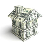 House from the money. Construction concept Royalty Free Stock Photo