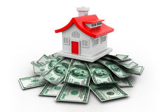 House with money Royalty Free Stock Photo