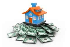 House with money Stock Image